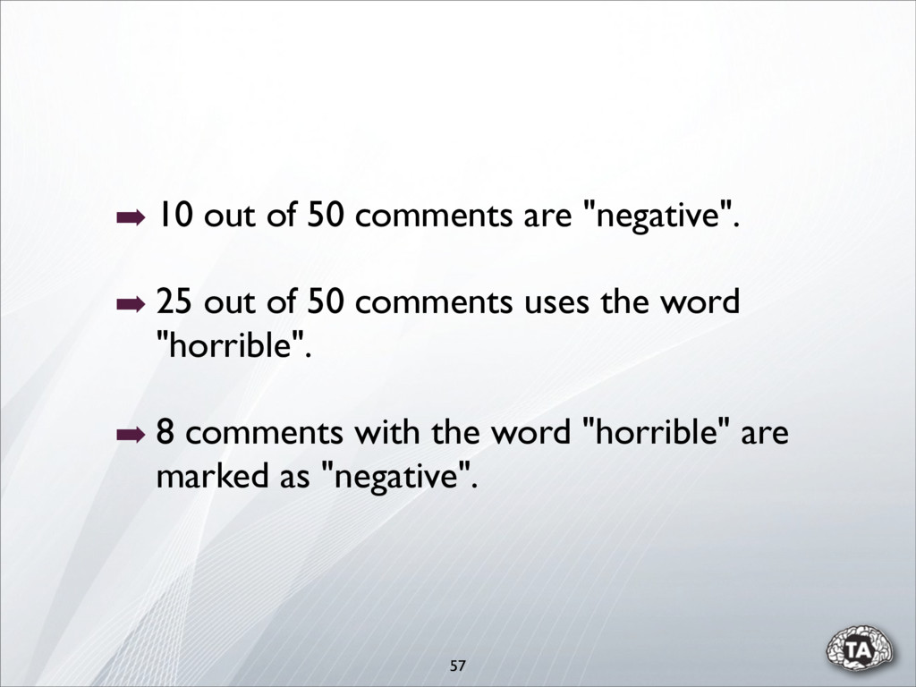"""➡ 10 out of 50 comments are """"negative"""". ➡ 25 ou..."""