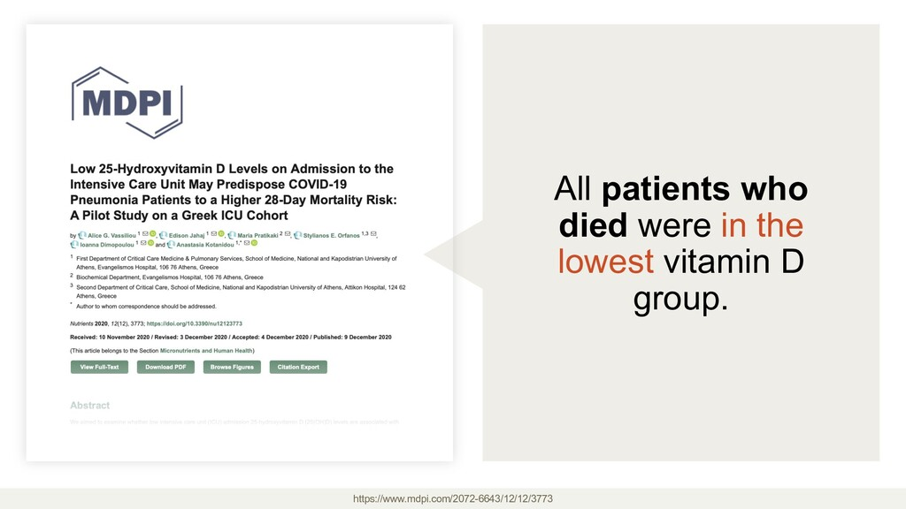 All patients who died were in the lowest vitami...