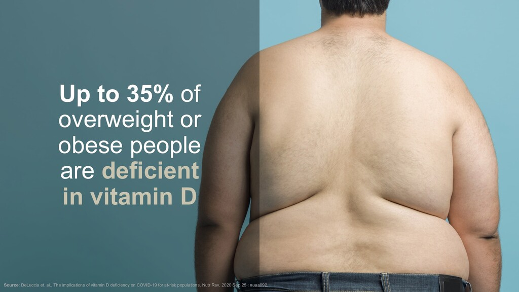 Up to 35% of overweight or obese people are def...