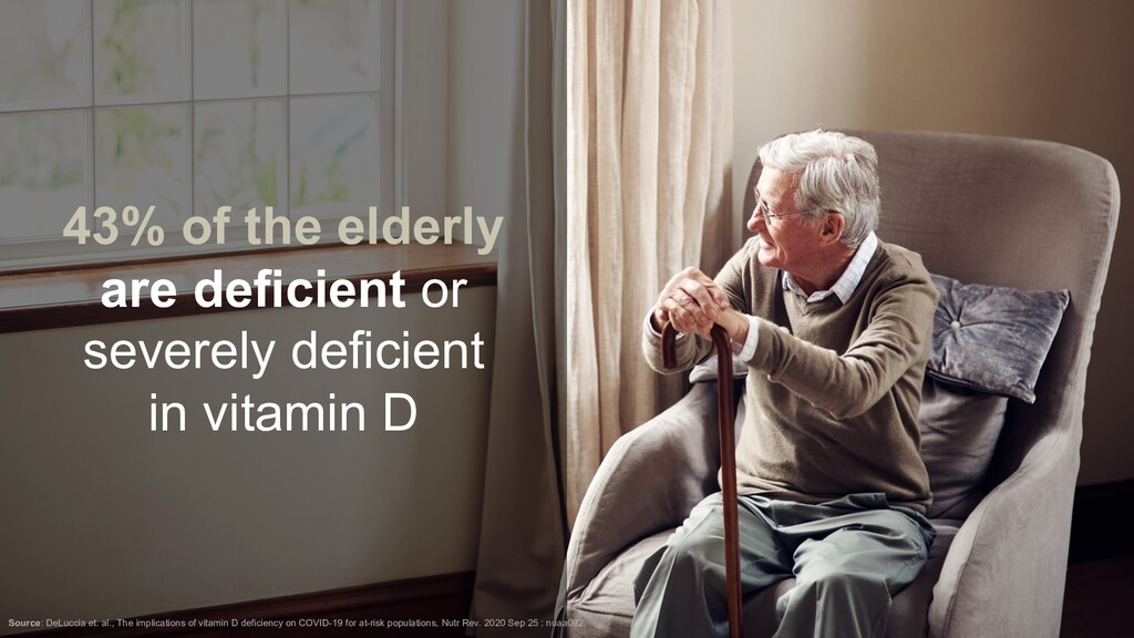 43% of the elderly are deficient or severely de...