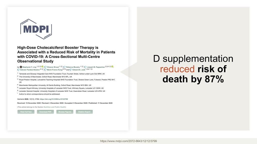 D supplementation reduced risk of death by 87% ...