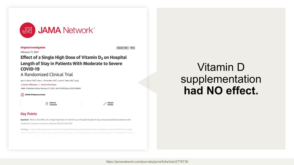 Vitamin D supplementation had NO effect. https:...