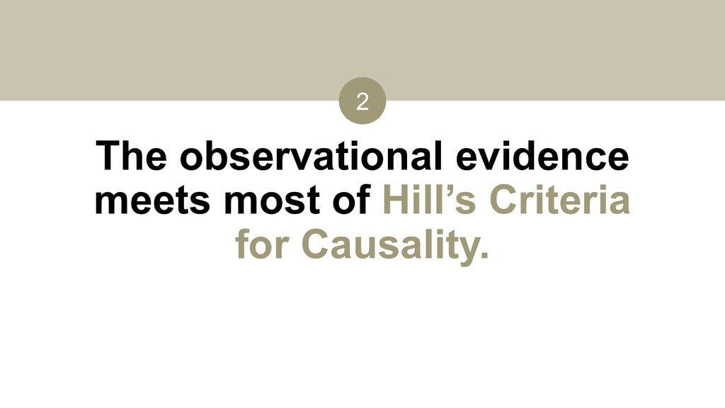 The observational evidence meets most of Hill's...