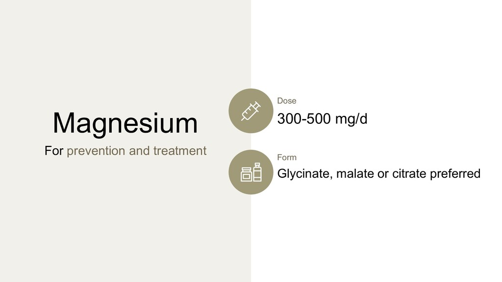 Magnesium For prevention and treatment Form Gly...