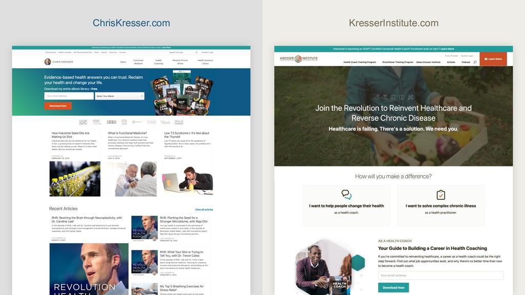 ChrisKresser.com KresserInstitute.com