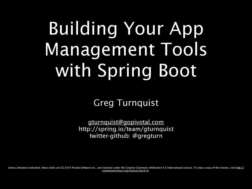 Building Your App Management Tools with Spring ...