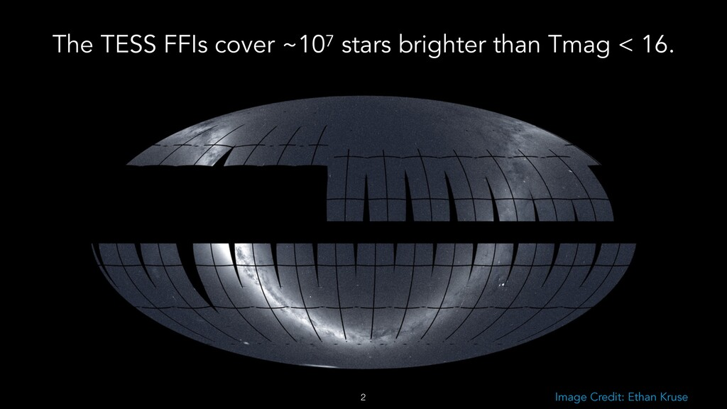 !2 Image Credit: Ethan Kruse The TESS FFIs cove...