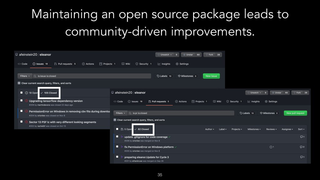 Maintaining an open source package leads to com...