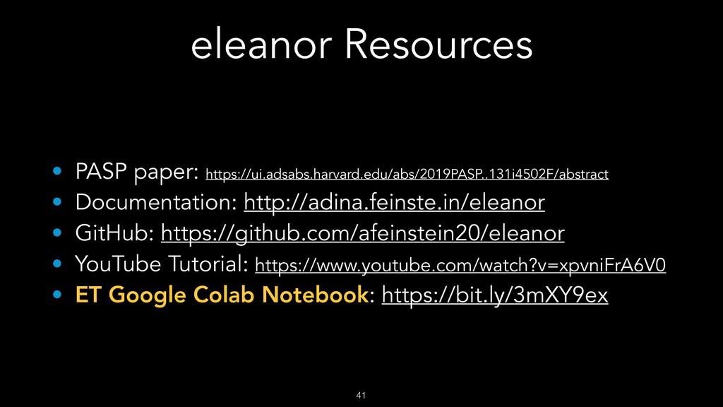 eleanor Resources !41 • PASP paper: https://ui....