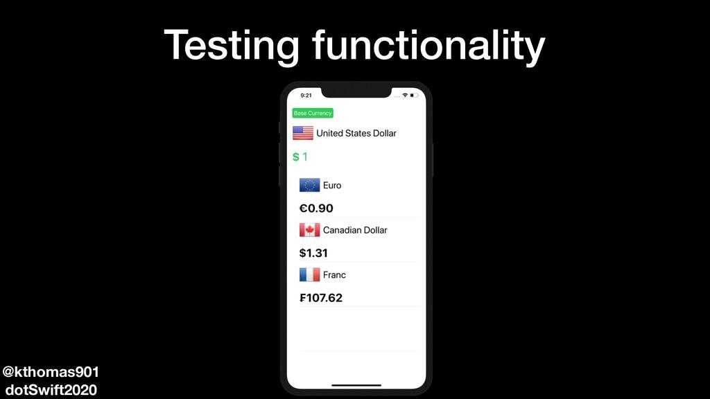 Testing functionality @kthomas901 dotSwift2020