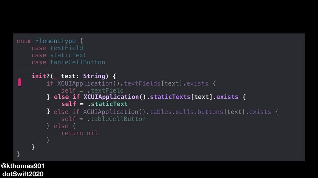 enum ElementType { case textField case staticTe...