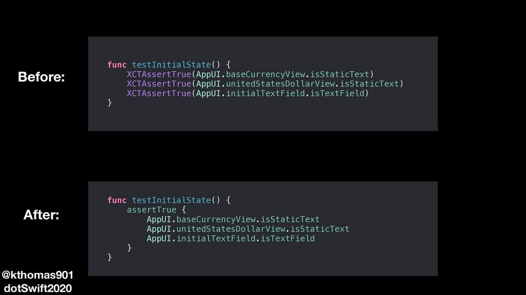 func testInitialState() { XCTAssertTrue(AppUI.b...