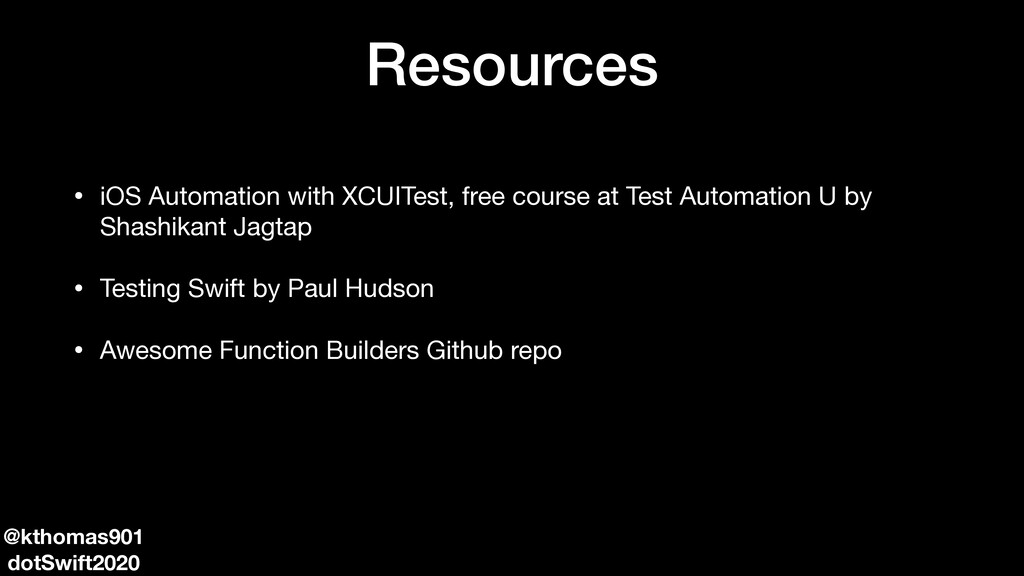 Resources • iOS Automation with XCUITest, free ...