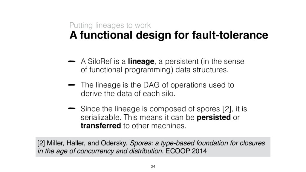 A functional design for fault-tolerance A SiloR...