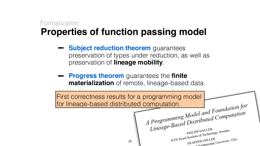 Properties of function passing model Formalizat...