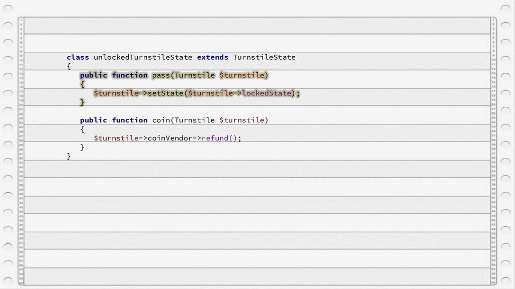 class unlockedTurnstileState extends TurnstileS...