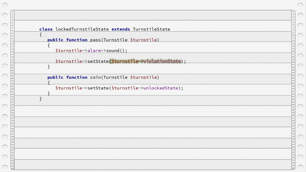 class lockedTurnstileState extends TurnstileSta...