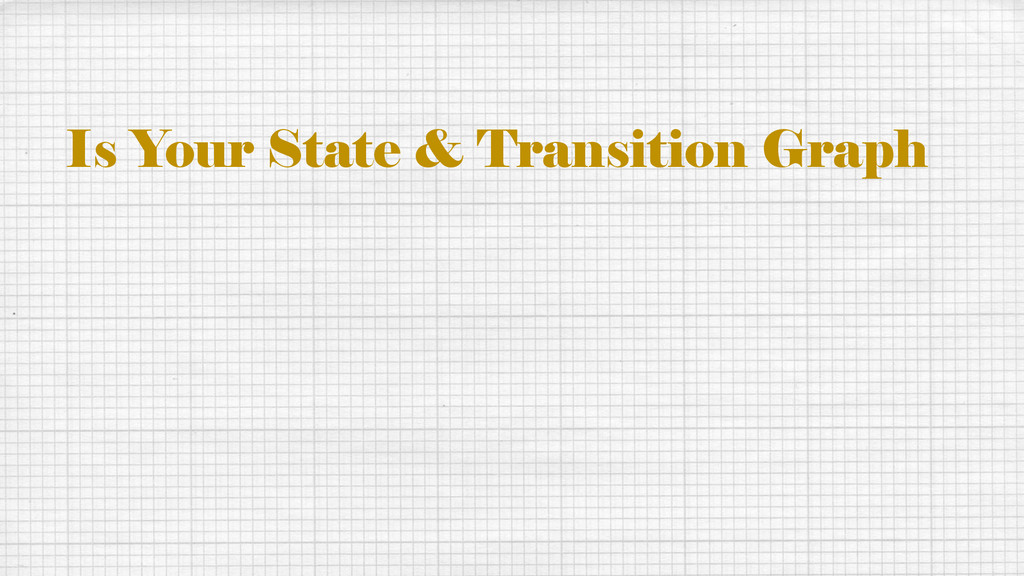 Is Your State & Transition Graph