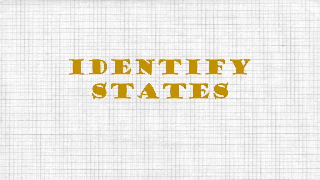 IDENTIFY STATES