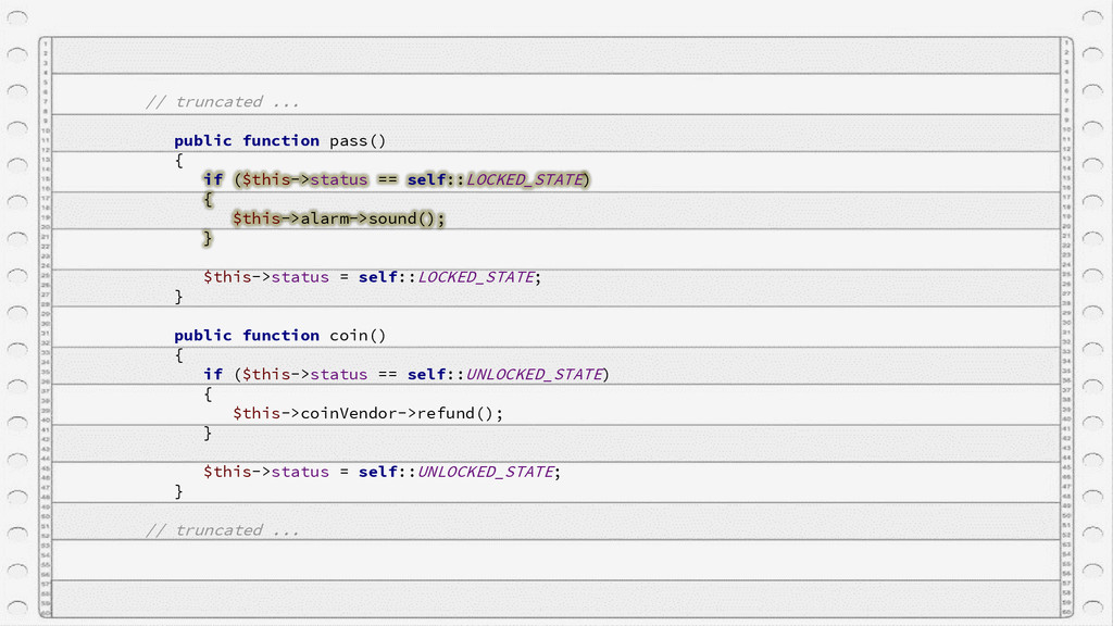 // truncated ... public function pass() { if ($...