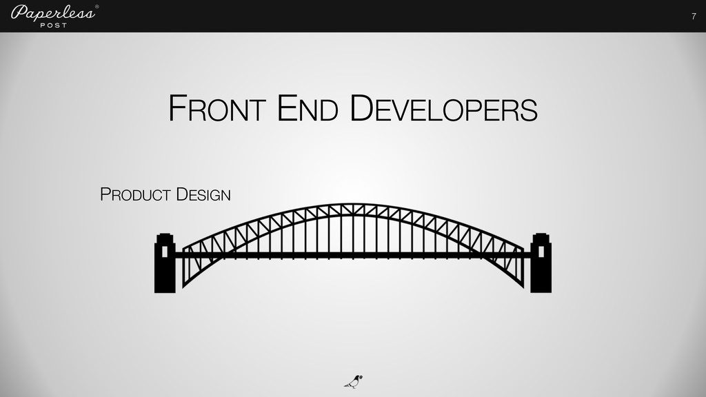 7 PRODUCT DESIGN FRONT END DEVELOPERS