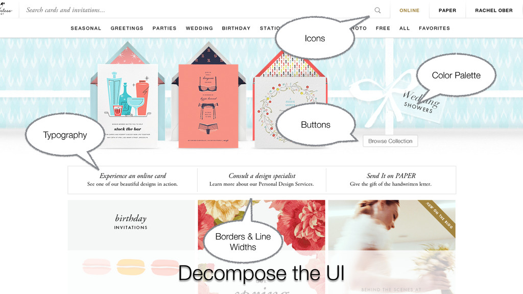 Decompose the UI Color Palette Typography Borde...