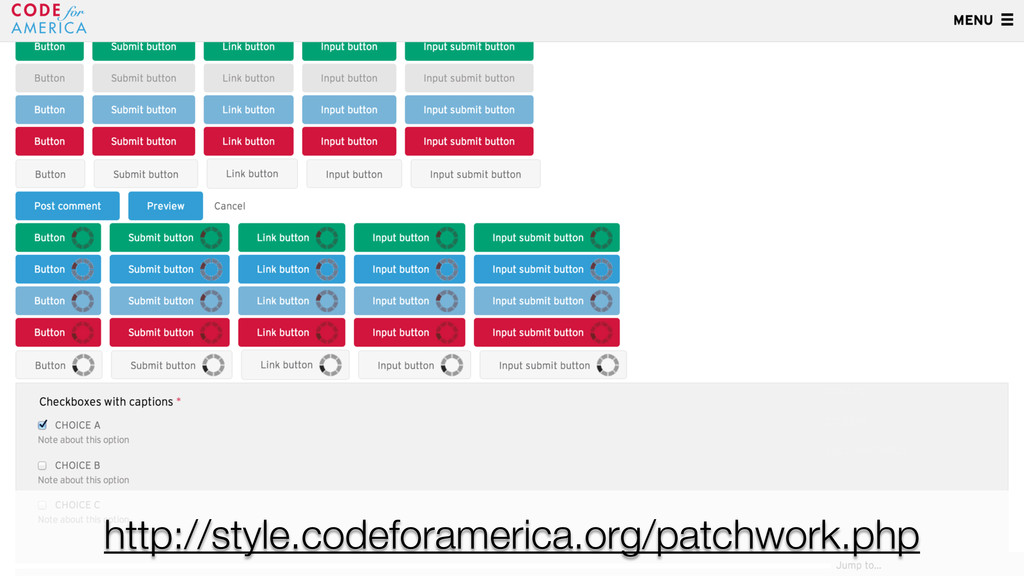 http://style.codeforamerica.org/patchwork.php