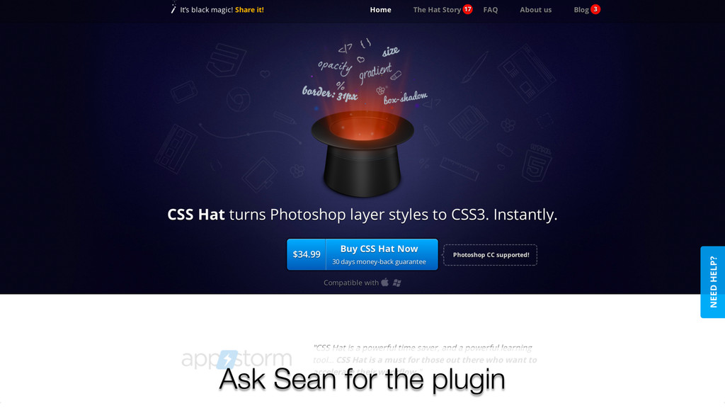 Ask Sean for the plugin