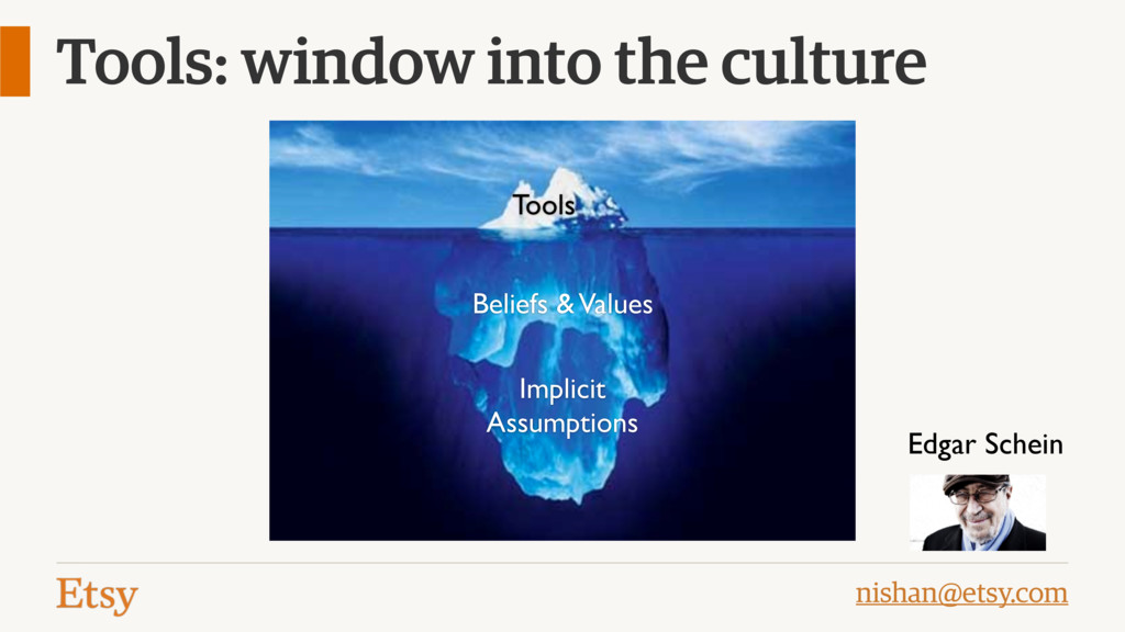 nishan@etsy.com Tools: window into the culture ...
