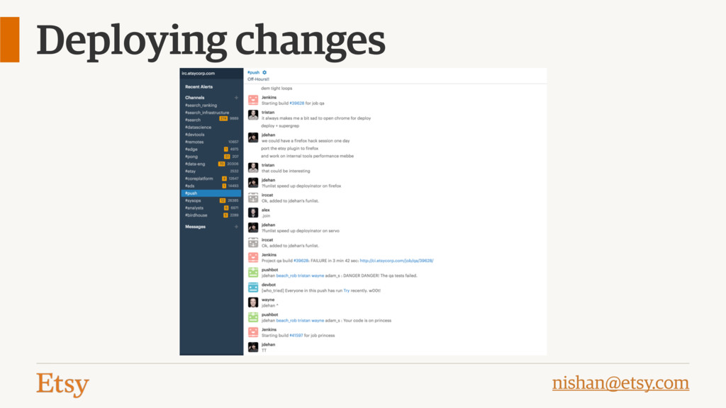 nishan@etsy.com Deploying changes