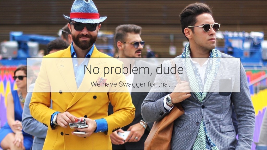 No problem, dude We have Swagger for that …