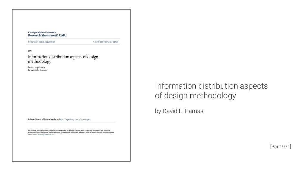 Information distribution aspects of design meth...
