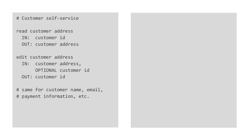 # Customer self-service read customer address I...