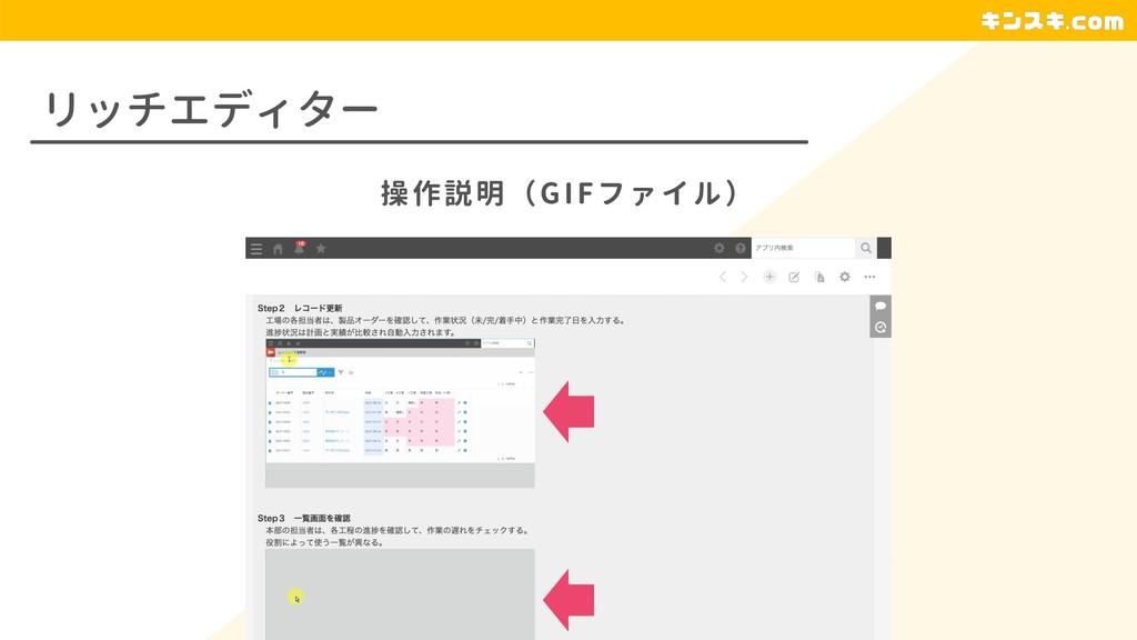 リッチエディター 操作説明(GIFファイル)