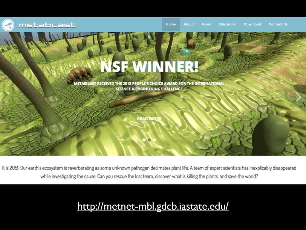 http://metnet-mbl.gdcb.iastate.edu/