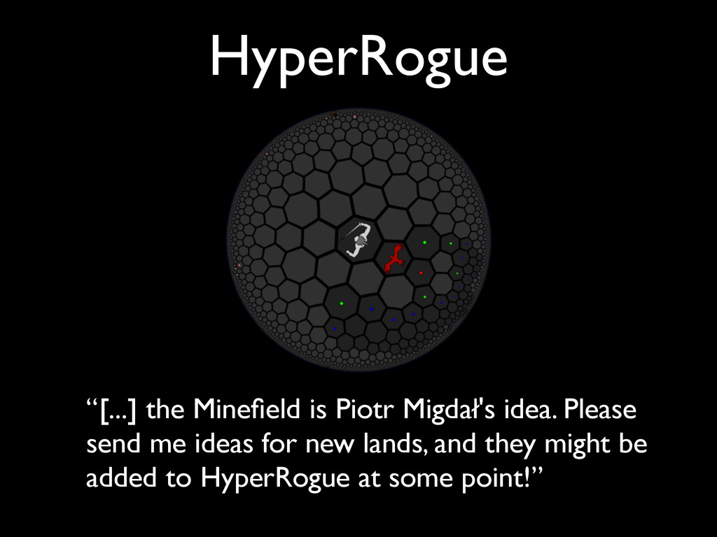 """[...] the Minefield is Piotr Migdał's idea. Ple..."