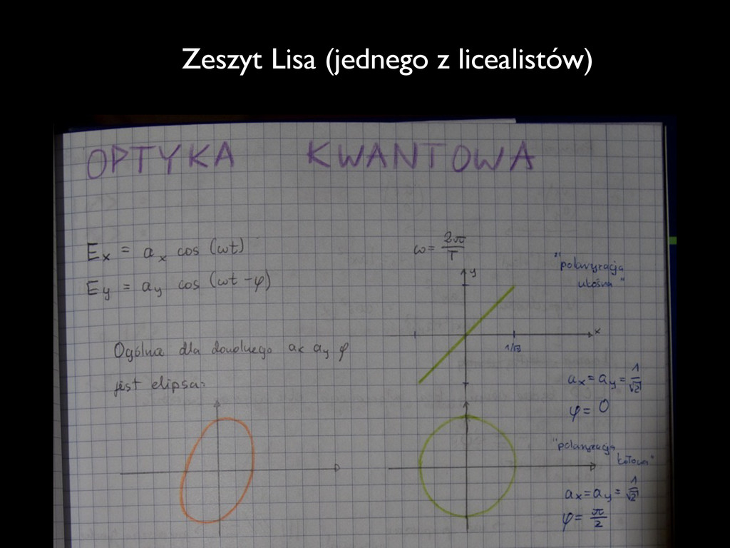 Zeszyt Lisa (jednego z licealistów)