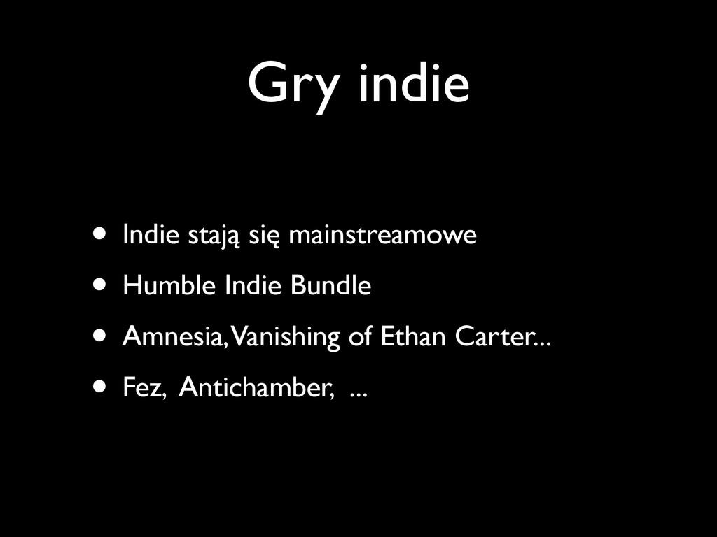 Gry indie • Indie stają się mainstreamowe • Hum...