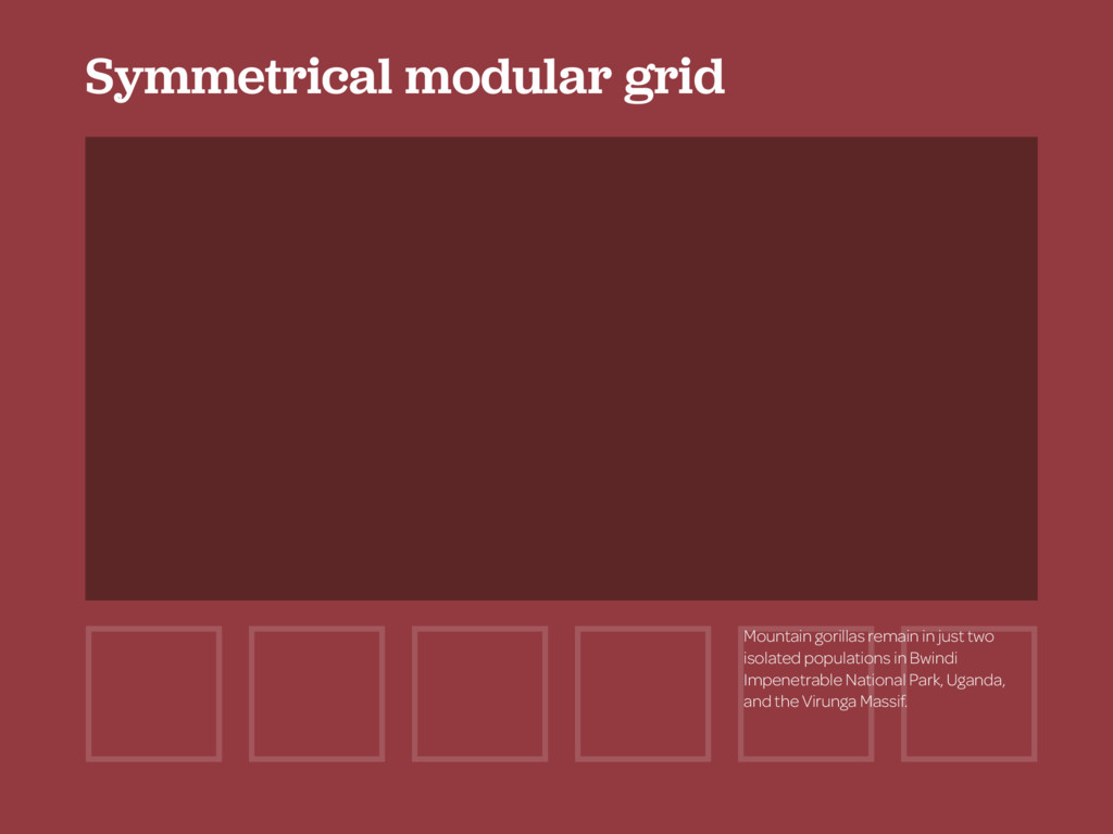 Symmetrical modular grid Mountain gorillas rema...