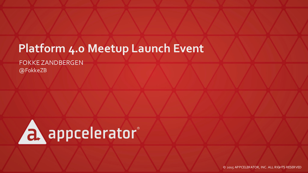 Platform  4.0  Meetup Launch  Event FOKKEZANDBE...