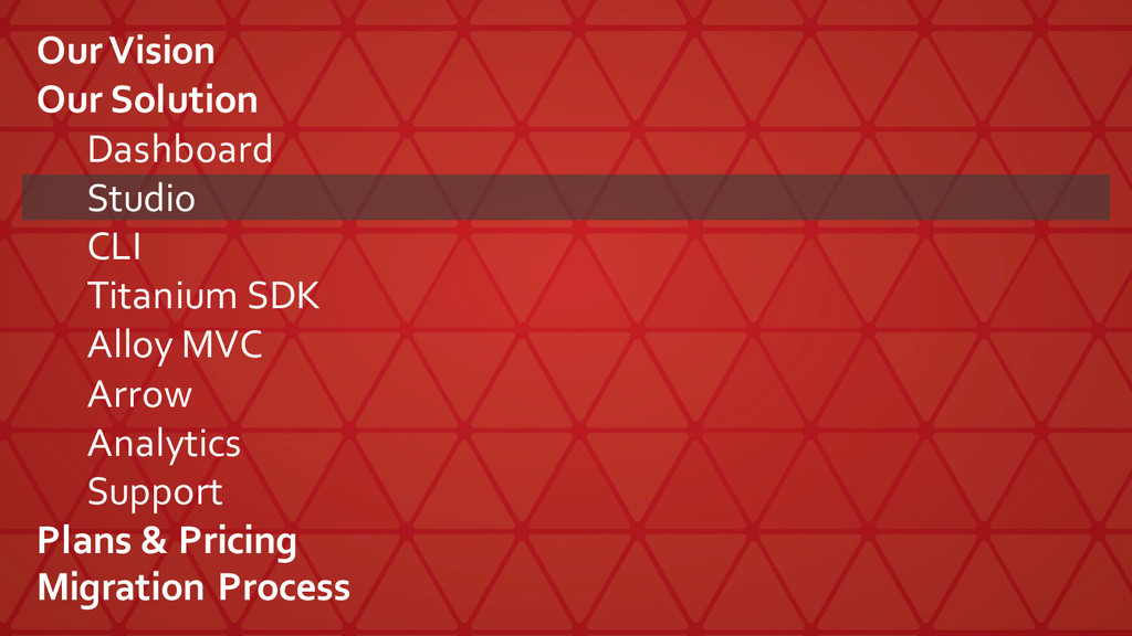 Our Vision Our Solution Dashboard Studio CLI ...