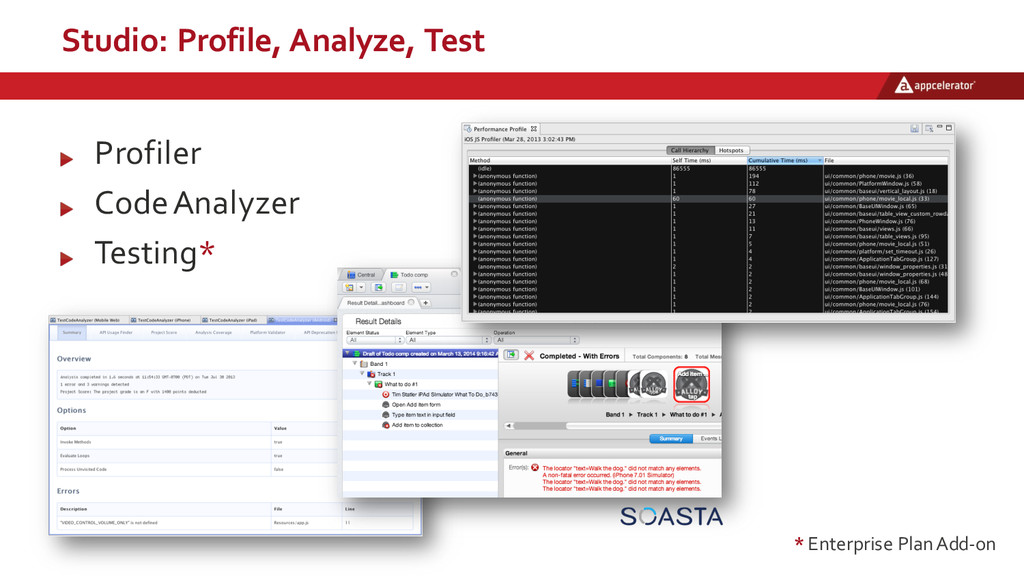 Studio:  Profile,  Analyze,  Test Profiler Code...