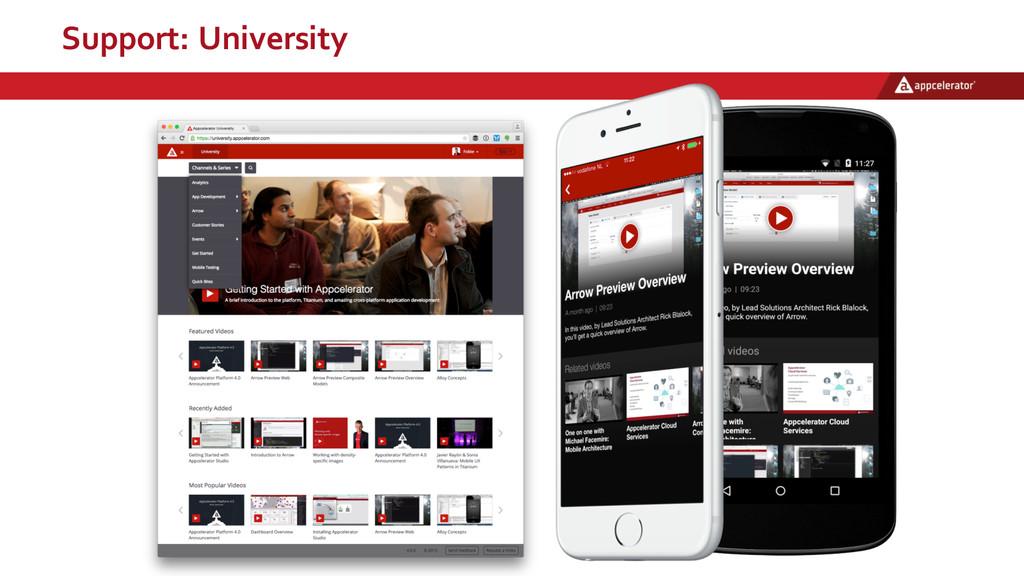 Support: University