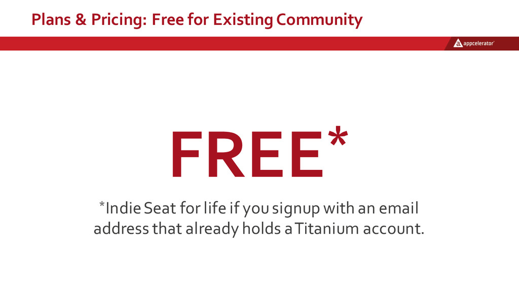 Plans & Pricing: Free for Existing Commun...