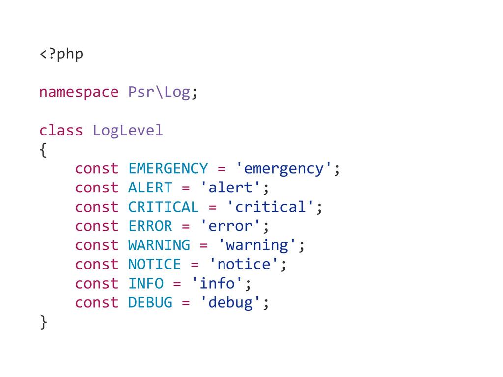 <?php  ! namespace Psr\Log;  ! class...