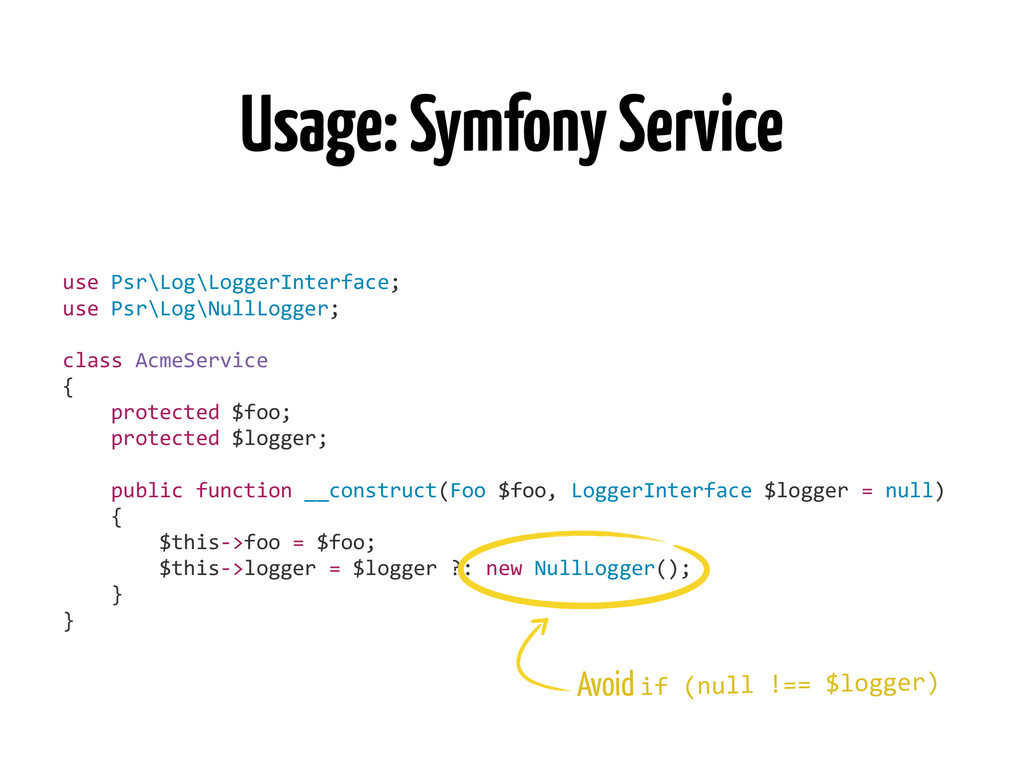 Usage: Symfony Service use	