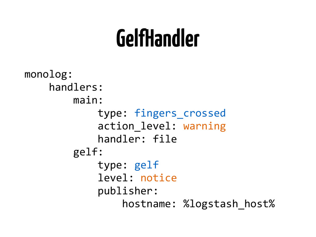 GelfHandler monolog:	