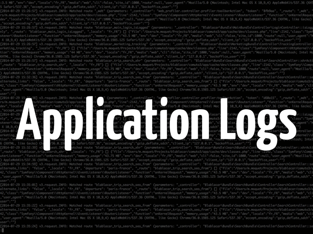 Application Logs