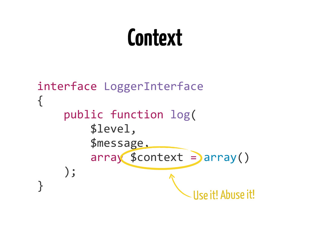 Context interface	
