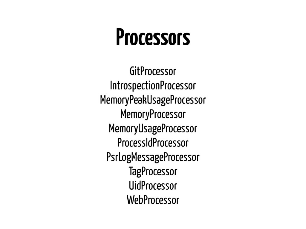 Processors GitProcessor IntrospectionProcessor ...